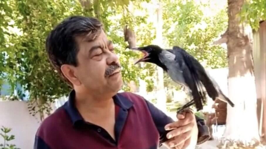 Homem salva a vida de corvo e os dois formam uma grande amizade