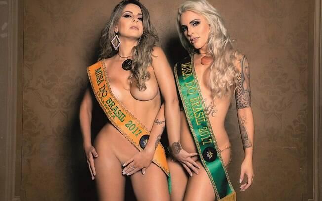 Vanessa Perez e Luanda Fraga, as vencedoras do concurso Musa do Brasil 2017 tiraram a roupa para a Sexy
