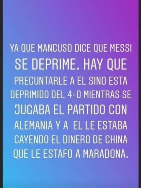 Maradona saiu em defesa de Messi