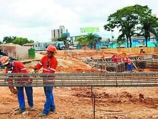 Construção civil.  Setor liderou o ranking das demissões, com encerramento de 33,55 mil vagas