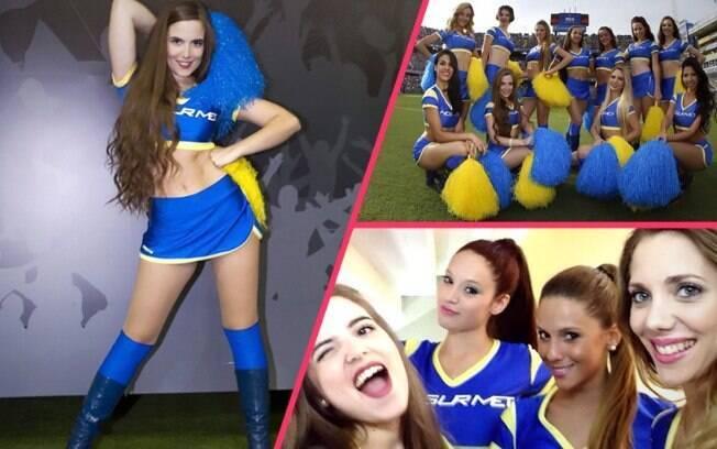 As tradicionais cheerleaders do Bocas Juniors, conhecidas como