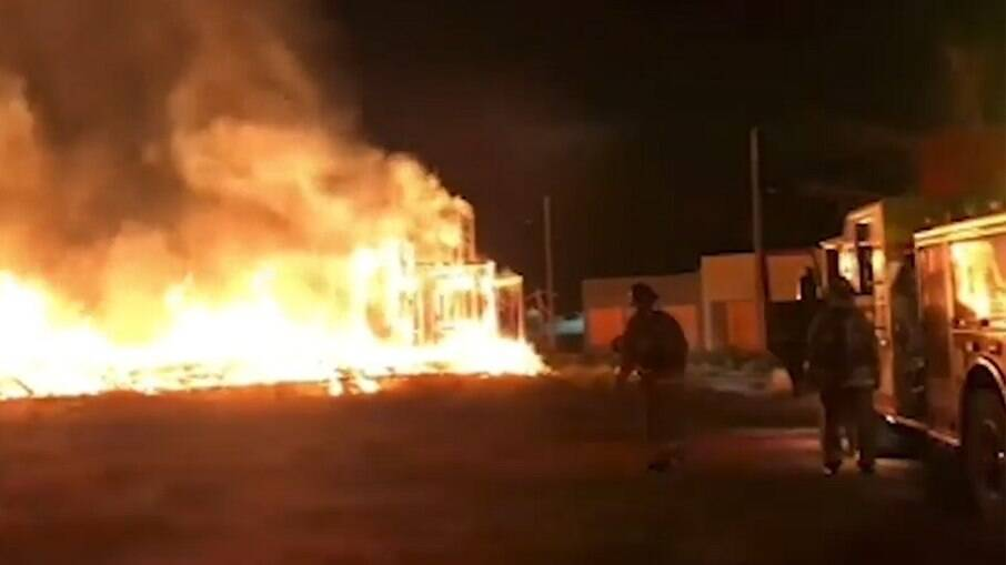 Incêndio no estúdio da série