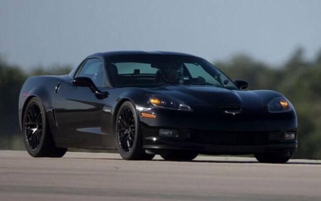 O Chevrolet Corvette GXE era o carro elétrico mais rápido do mundo quando atingiu sua velocidade máxima, em 2016