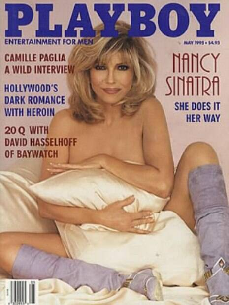 A cantora Nancy Sinatra também fez história nas capas da Playboy e posou em 1995