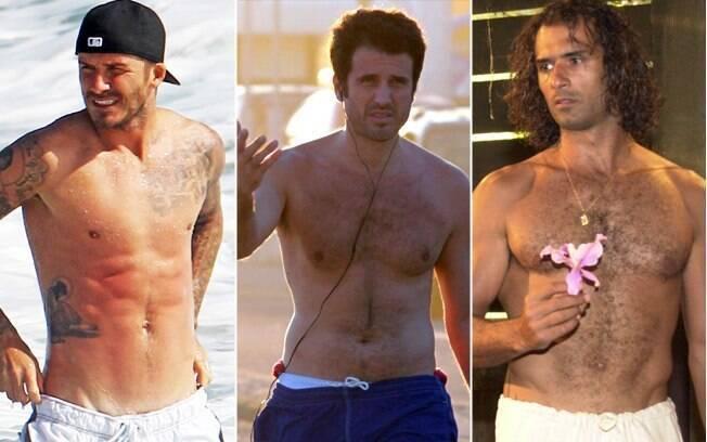 Pelos (ou não) para todos os gostos: David Beckham, Eriberto Leão e Marcos Pasquim