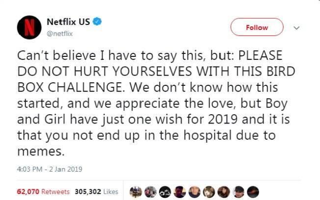 Netflix se posiciona sobre o desafio