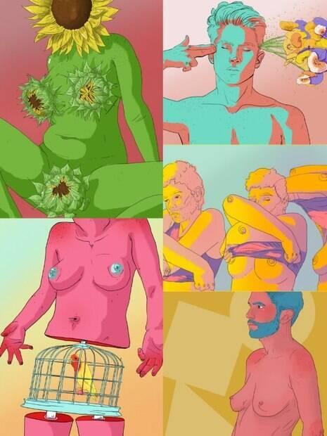 A arte do estudante tem como tema questões de gênero e sexualidade