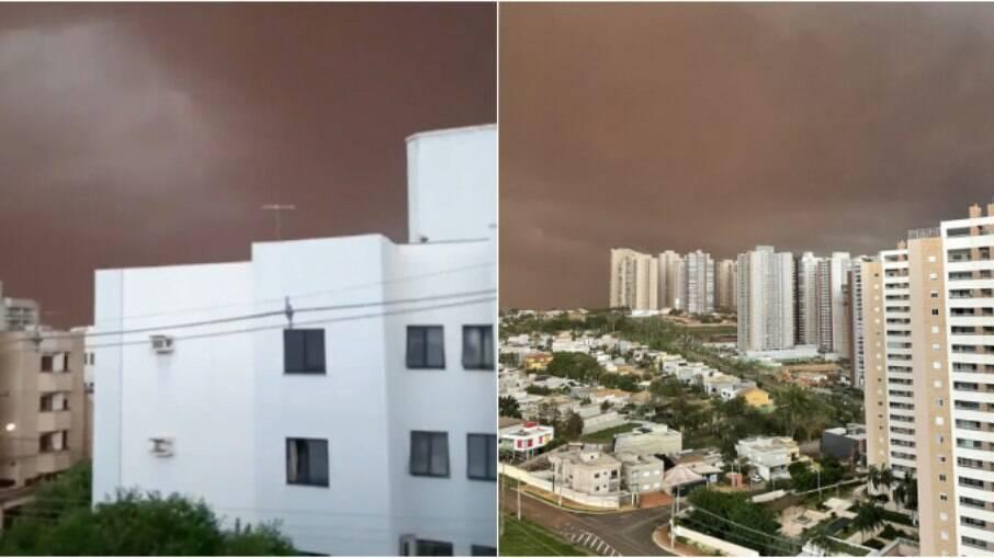 Nova tempestade de poeira é avistada no interior de São Paulo