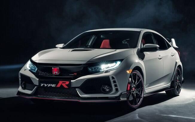 Honda Civic Type R:  pode vir a ser vendido no Brasil. Tem 320 cv e pode acelerar de 0 a 100 km/h em 5,7 segundos
