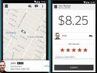 Uber substitui táxi por carros particulares. Grátis para iPhone e Android