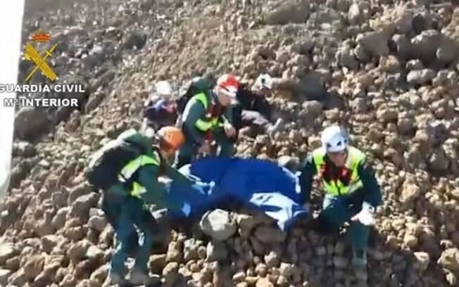Corpo do triatleta Victor Teni é resgatado do vulcão Teide, na ilha de Santa Cruz de Tenerife