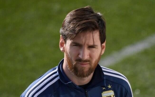 Lionel Messi com o uniforme da Argentina