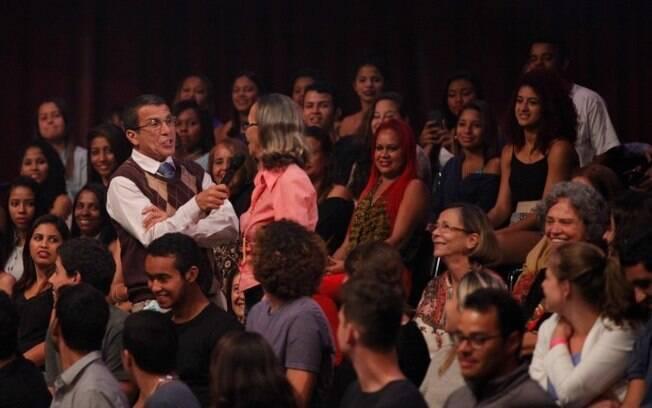 Eri Johson na estreia de 'Tomara que Caia'