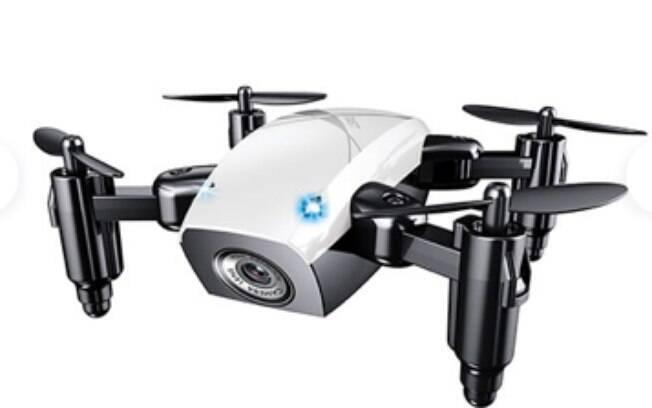 Quad-Drone Câmera Embutida Estabilizador Compacto Resistente com Conexão a Smartphones - Branco; por R$ 169.90 em até 12x de R$14,16 sem juros