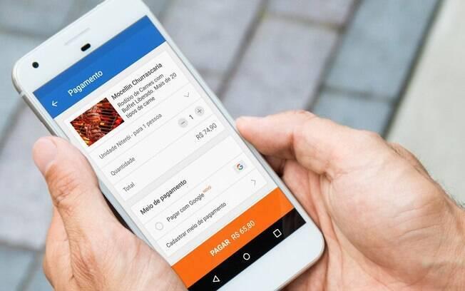 'Pagar com Google' será exibido junto às outras formas de pagamento cadastrados por você em sites e aplicativos parceiros