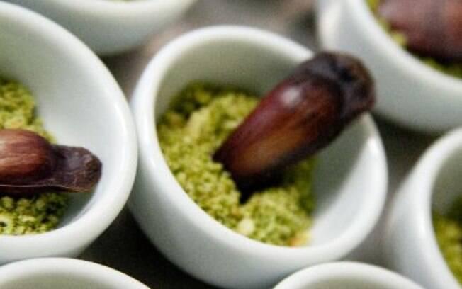Foto da receita Farofa de erva-mate pronta.