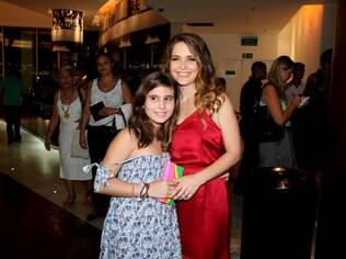Claudia Abreu e a filha Maria