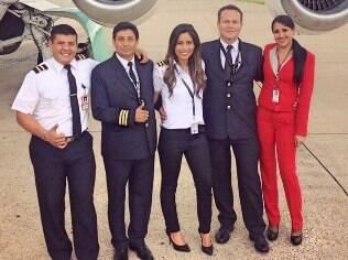 Tripulação do voo da Chapecoense. Tragédia matou 71 pessoas na Colômbia