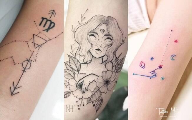 tatuagens representando o signo de virgem