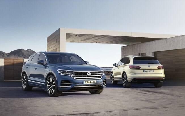 VW Touareg da nova geração será importado da Eslováquia a partir do último trimestre do ano, acima do VW Tarek