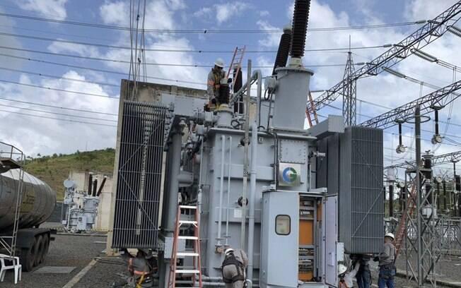 Agentes também realizaram perícias na subestação onde um incêndio destruiu um transformador