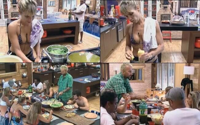 Ana preparou a comida para todos os peões