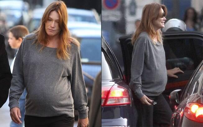 Carla Bruni não quis saber o sexo do bebê