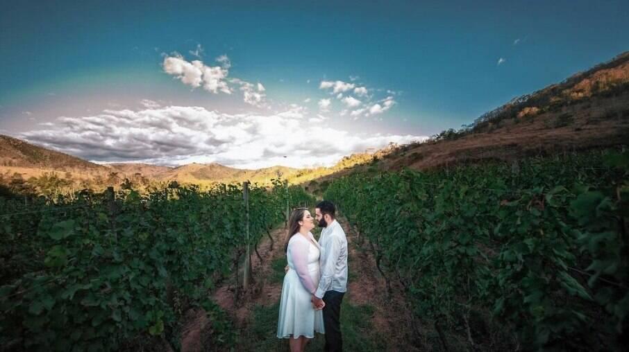 Ensaio de casamento na vinícola Inconfidência