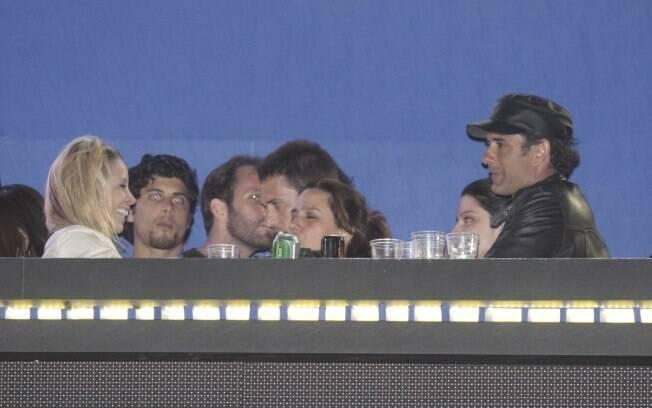 Danielle Winits e Marcos Pasquim juntos no camarote do Rock in Rio