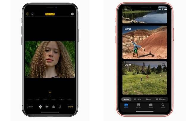 No iOS 13, será mais fácil tirar e editar fotos e vídeos com com controles intuitivos e abas de organização para as galerias