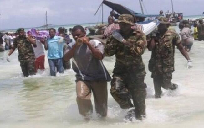 Serviço de emergência disse que cerca de 136 pessoas morreram em um naufrágio na Tanzânia que aconteceu na quinta