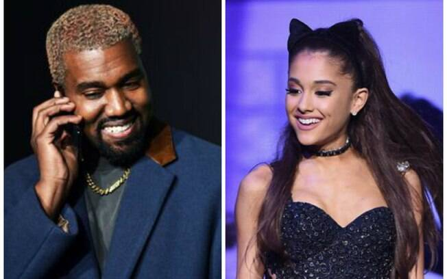 Kanye West e Ariana Grande acabaram se envolvendo em uma confusão na internet depois de piada da cantora