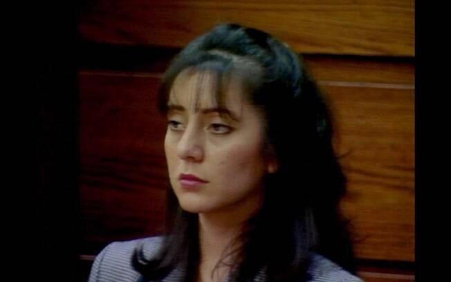 Lorena durante julgamento nos anos 90