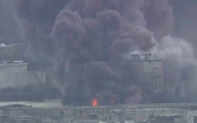 Uma indústria química foi atingida em Louisiana.