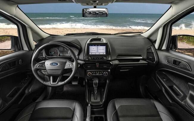 Ford EcoSport FreeStyle 2020 tem central multimídia Sync 2,5, sem GPS embutido e tela  de 6,5 polegadas em vez de 8
