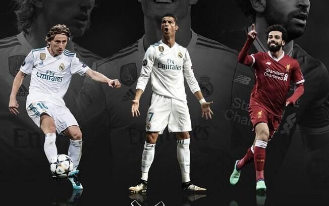 Uefa escolhe Modric, CR7 e Salah como melhores da temporada