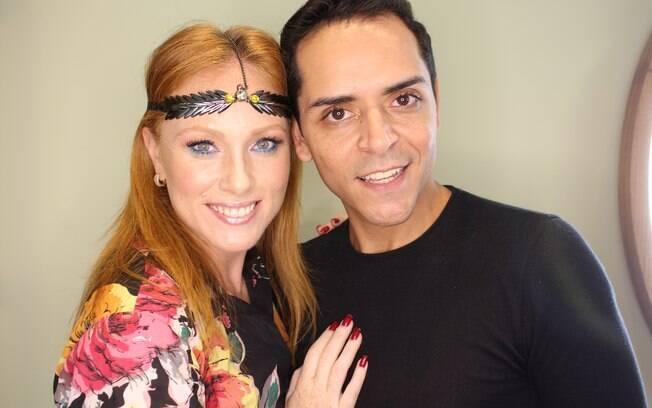 Encontrinho entre Cacá Filippini e Demétrio Araújo resulta em uma maquiagem com muito brilho para o carnaval
