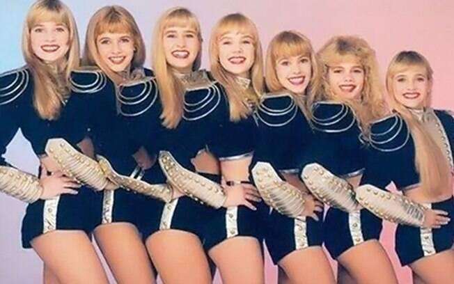 As Paquitas no final dos anos 1980. A primeira à esquerda é Letícia Spiller