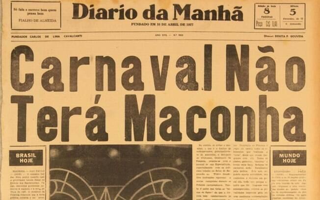 manchete de jornal com fala