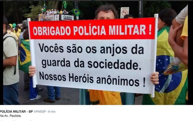 Quase três horas depois do início da manifestação em São Paulo, a Polícia Militar não havia divulgado qual era o público