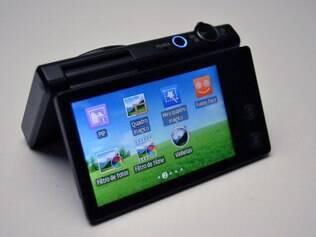 Tela sensível ao toque facilita acesso aos recursos da MV800