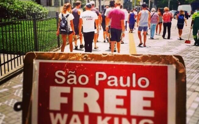 As caminhadas pela cidade de São Paulo são guiadas completamente em inglês e não têm preço definido