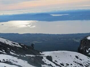 Visual. A subida do vulcão Villarrica tem vistas panorâmicas