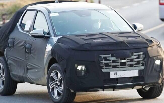 Hyundai Santa Cruz agora está mais exposta, o que permite sabermos de mais detalhes antes da novidade ser lançada