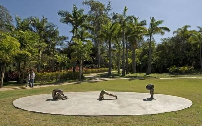 O instituto cultural Inhotim tem centenas de obras de artistas contemporâneos