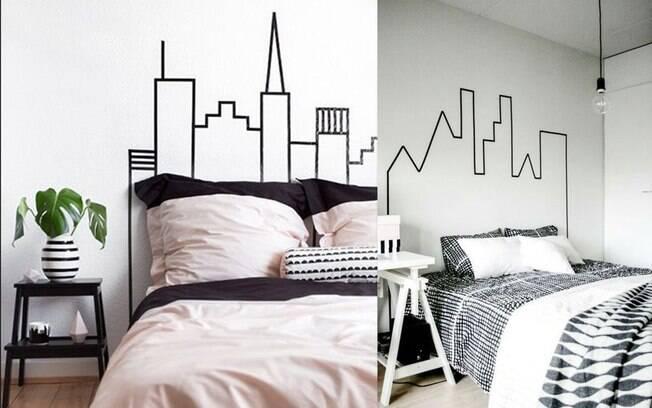 Pra quem gosta de cidade, que tal essa temática bem urbana para o quarto?