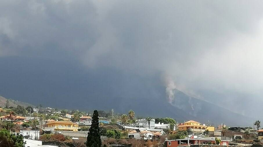 Nuvem de cinzas em La Palma