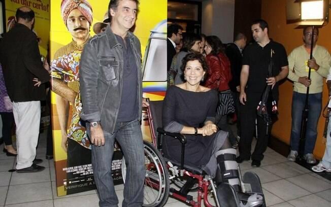 Mesmo com pé machucado, Ângela Vieira não perdeu o bom humor
