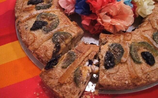 Foto da receita Rosca de Reyes pronta.