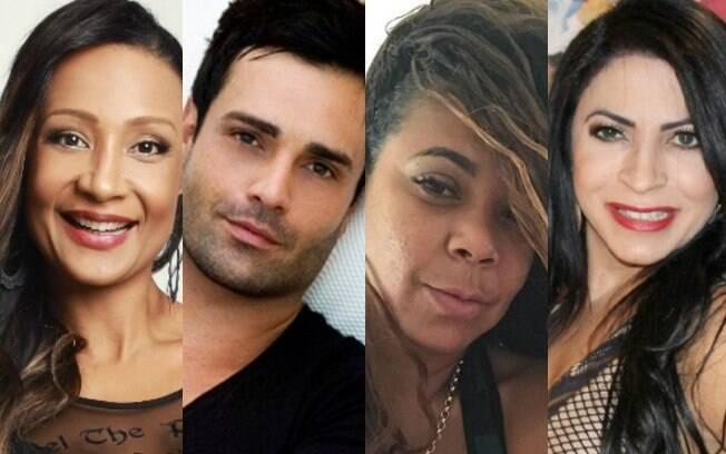 Participantes do reality: Drika Marinha, a viúva de Mr. Catra, Silvia, Rodrigo Phavanello e Sylvia Design